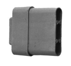 Endstab-Kunststoffgleiter 25 x 11 mm VE: 10 Stk.