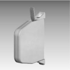 Schwenk-Gurtwickler 15 mm, weiß, mit 5 m Gurt, grau