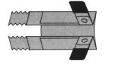 Rollladen-Klemmsicherung - Paar VE: 10 Paar